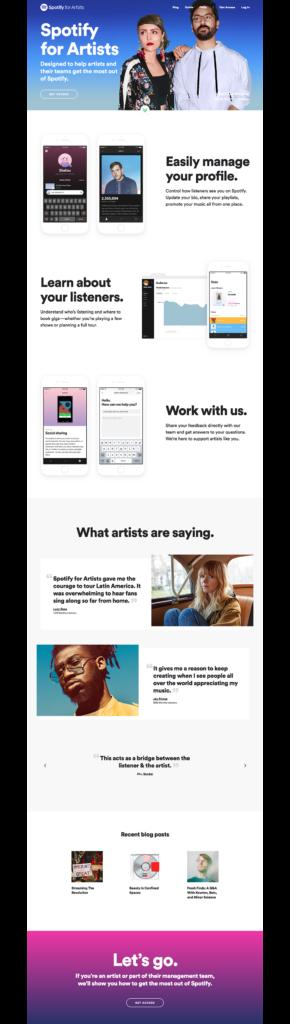 Colorful Website Design Inspiration Spotify