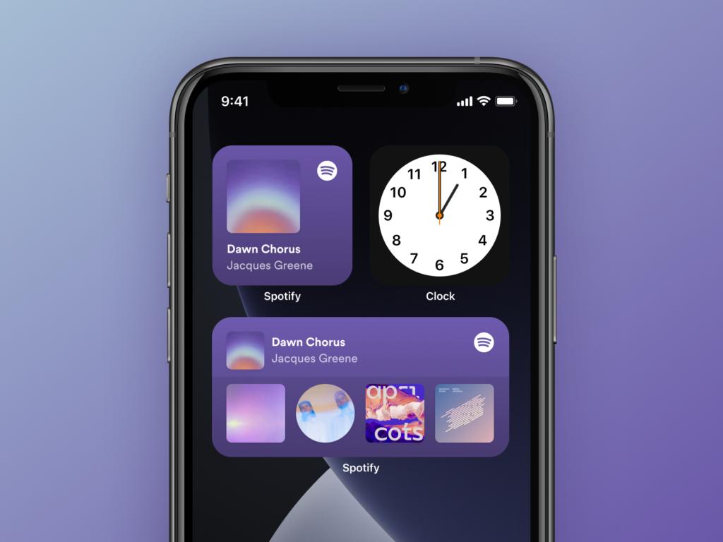 Spotify iOS 14 widgets by Mattias Johansson on Dribbble