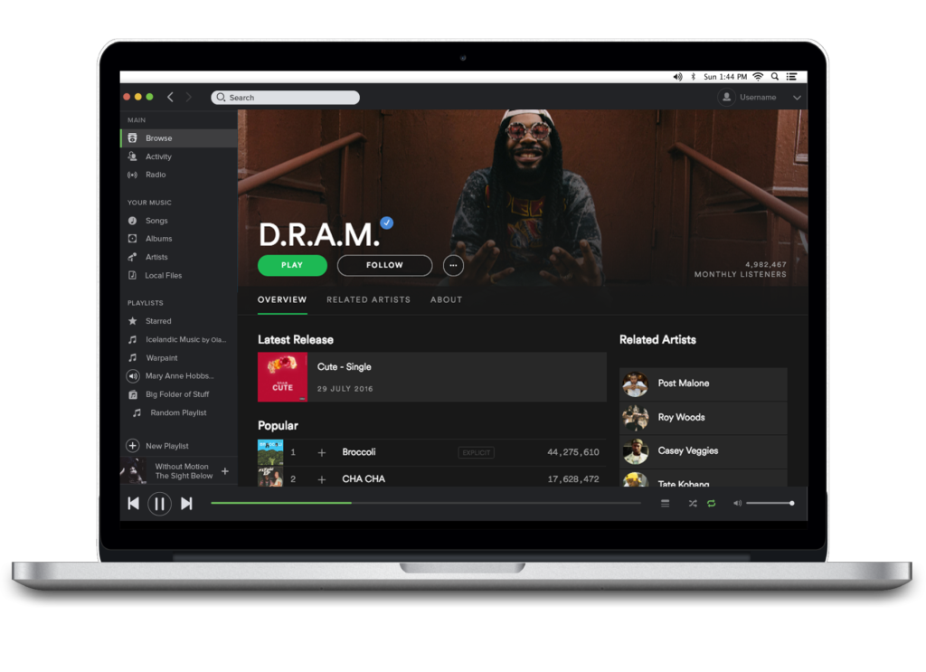 Spotifys new design layout for artist profiles aims to