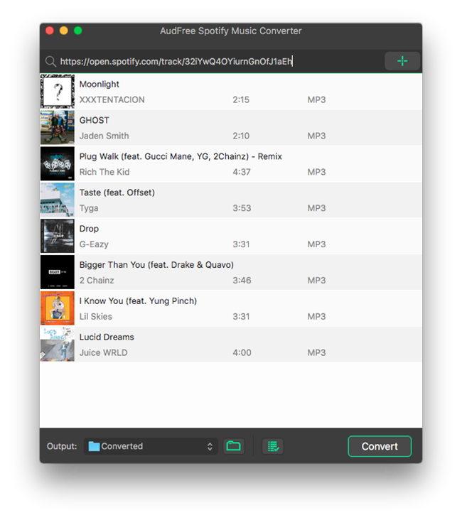 Audfree Spotify Music Converter for Mac Review - Spotify Interface