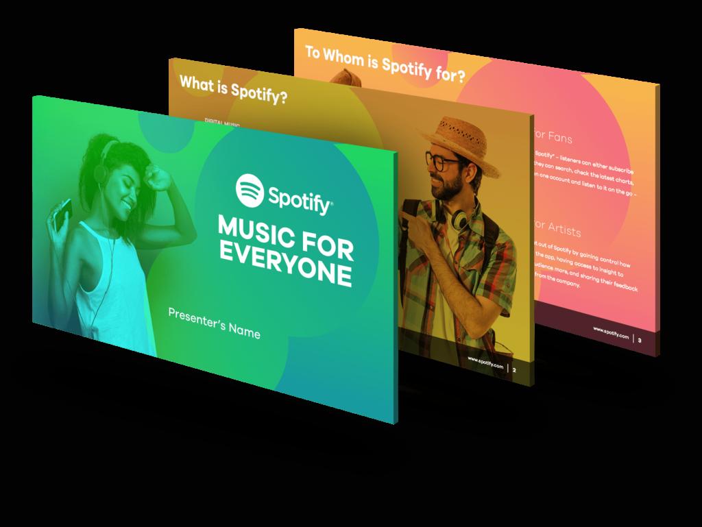 Spotify  PowerPoint Designers  Presentation  Pitch Deck