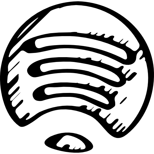 Spotify sketched logo variant  Free logo icons