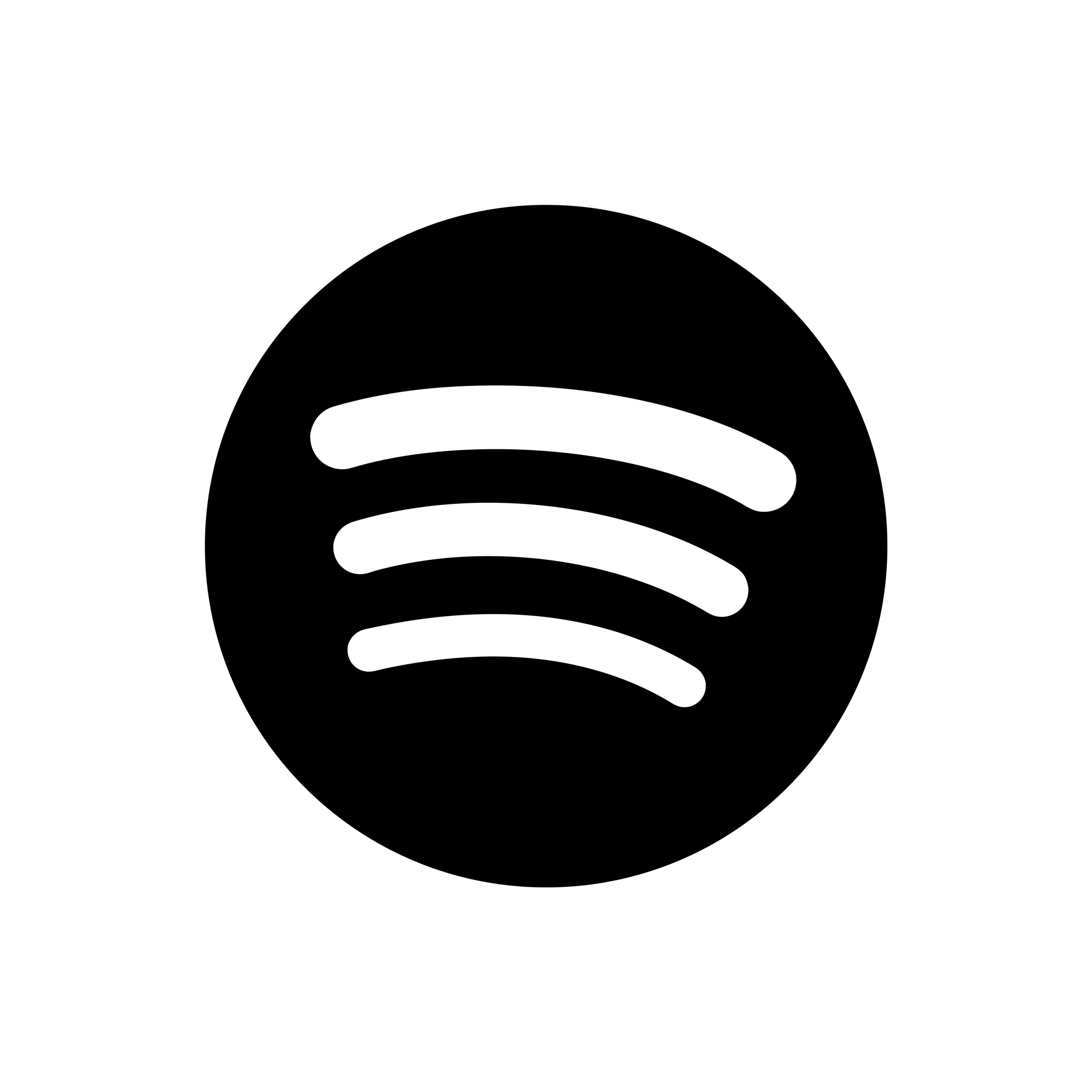 Transparent Background Vector High Resolution Spotify Logo - Spotify Logo TRANSPARENT White