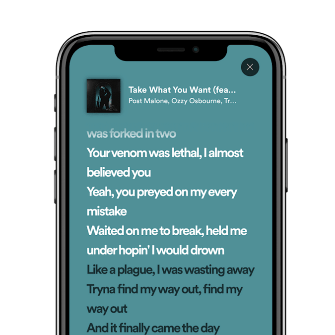 Spotify just started testing its live lyrics feature in