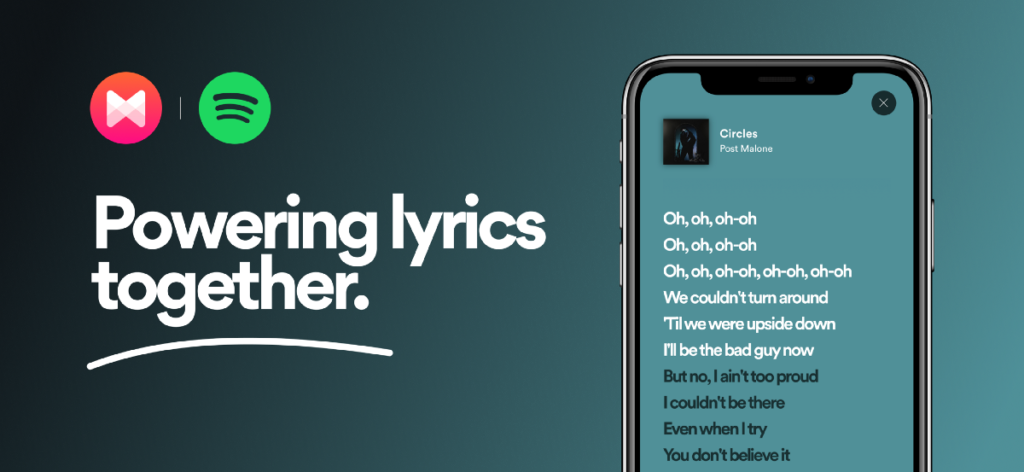Spotify and Musixmatch powering lyrics together  by