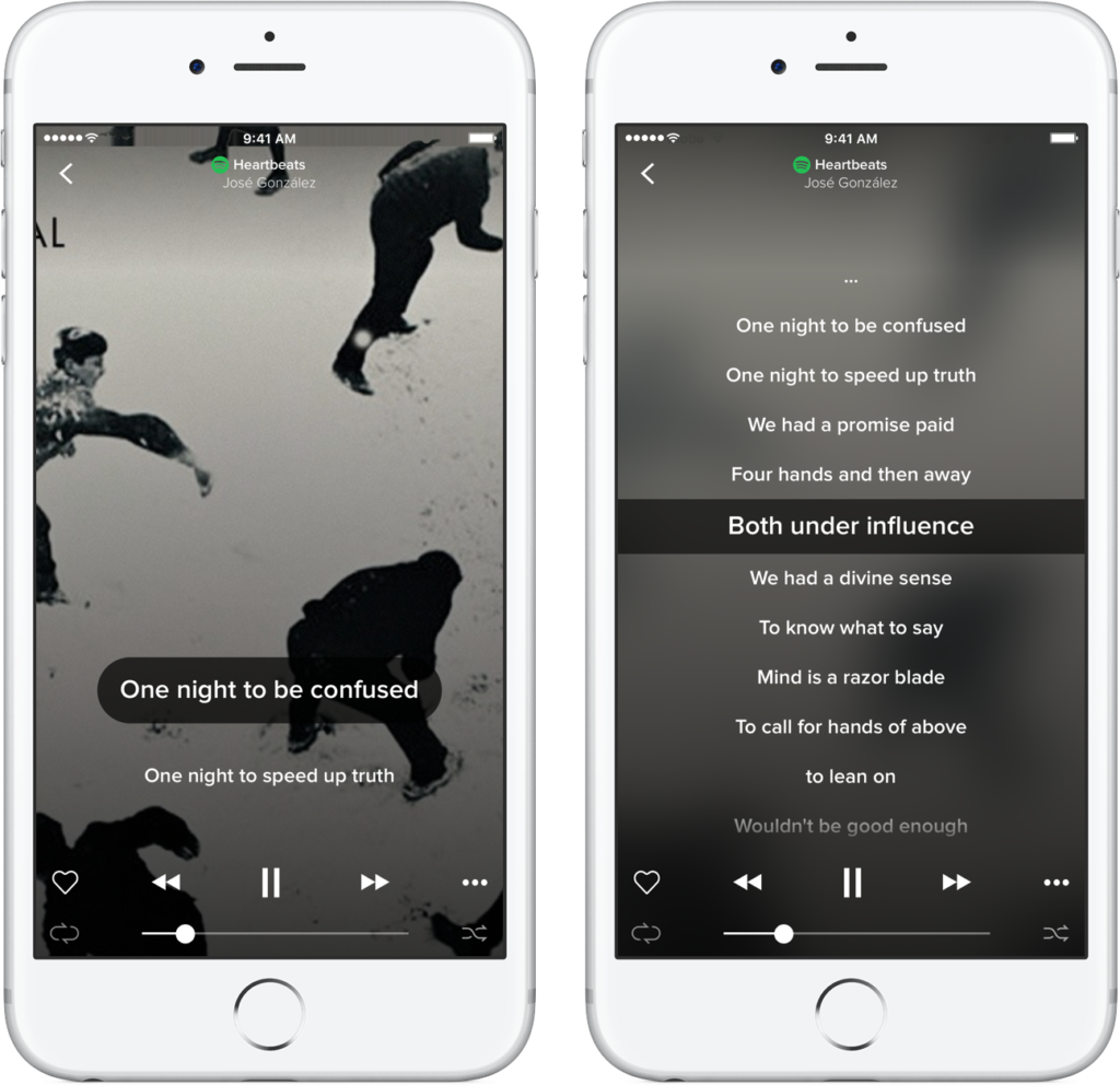 You can now enjoy your Spotify music with lyrics from
