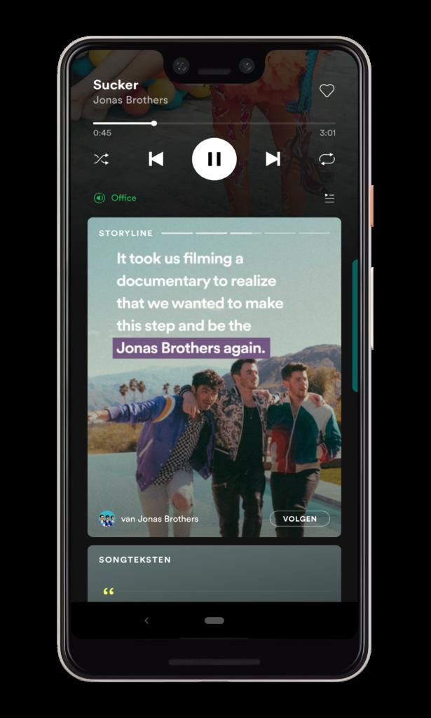 Spotify brengt volledige lyrics voor muziek naar meer