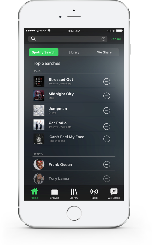 Spotify  Redefine the mobile experience