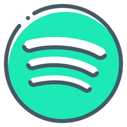 Spotify Logo Icon of Colored Outline style  Available in SVG PNG EPS AI  Icon fonts