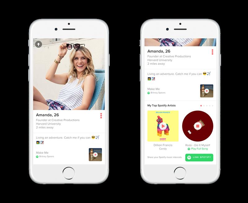 tinder Spotify phone mockups 1  Miltton