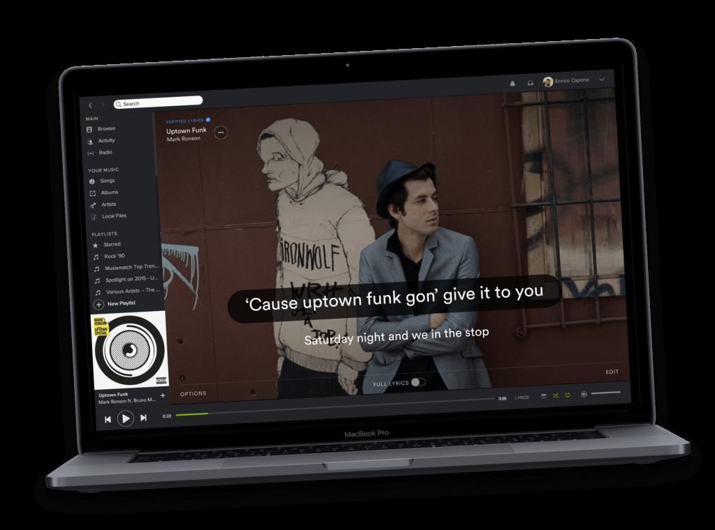 Spotify app  Musixmatch