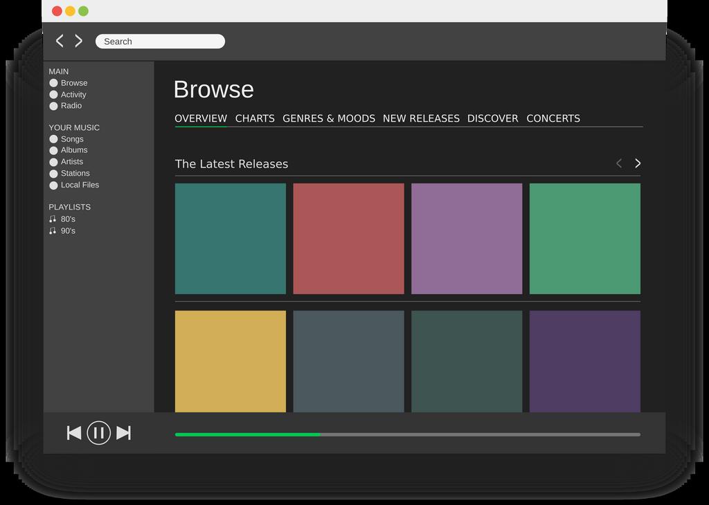 macOS Spotify UI Mockup by SplittyDev on DeviantArt