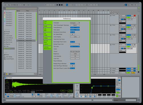 Spotify UI  Ableton 10 Theme by Nick Atkins