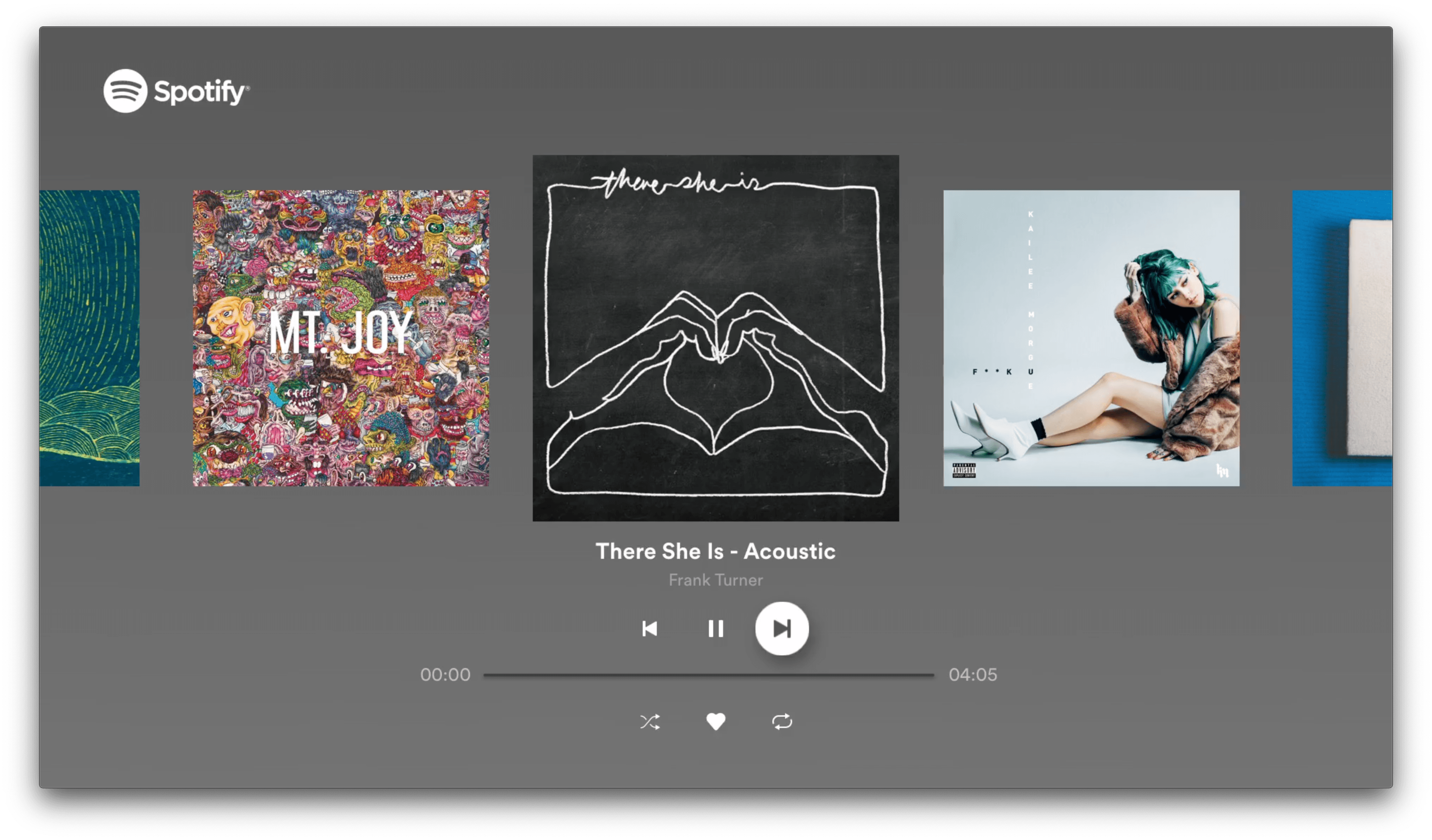 Hands-On with Spotify's Siri Integration and Apple TV App ... - Spotify UI