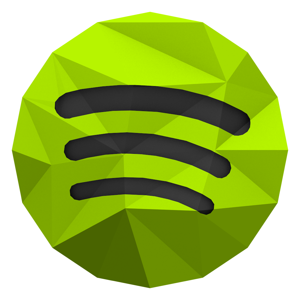 Lowpoly Spotify Icon by BenWurth on DeviantArt