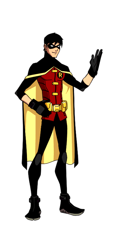 DC:New Earth Robin Animated | Young justice robin, Young ... - Teen Titans Red X Suit