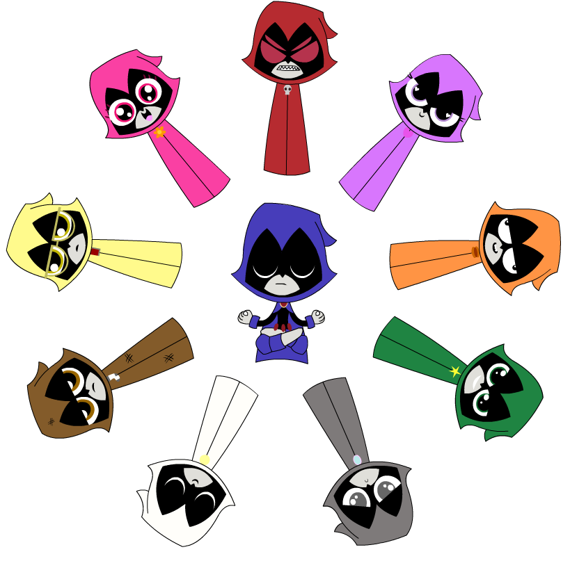 The colors of raven  Teen Titans  Pinterest  All