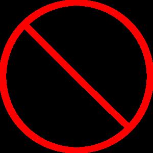 No Symbol Skinny Clip Art at Clkercom  vector clip art