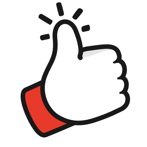 Gesture like thumbs up youtube icon