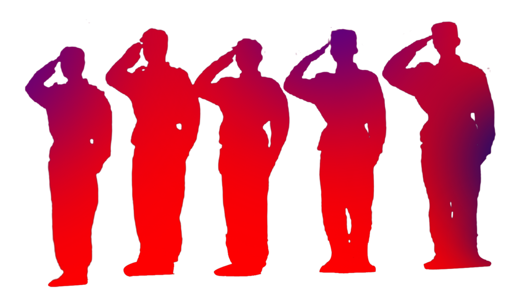 China Salute Soldier Silhouette  Soldiers salute png