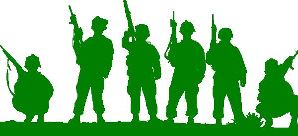 Green Toy Soldiers Clip Art at Clkercom  vector clip art