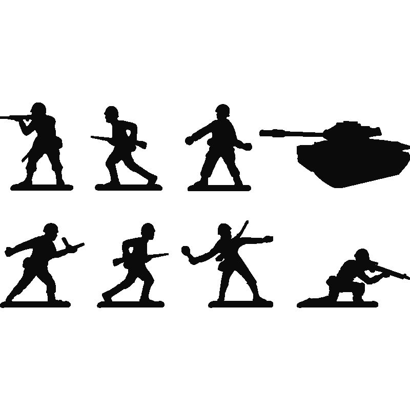 Wall decal Sticker Polyvinyl chloride Silhouette  Toy