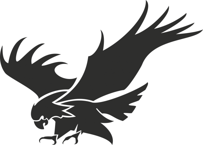 Logo Stencil  Eagle silhouette png download  700501