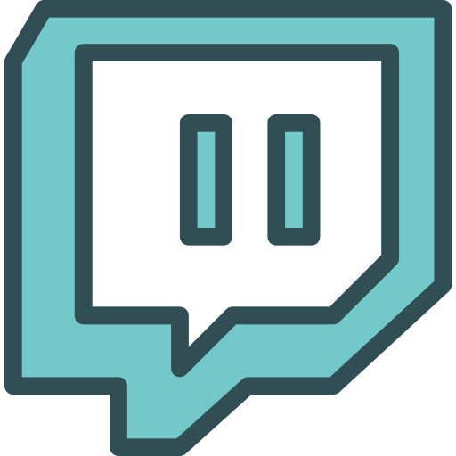 Brand logo network social twitch icon