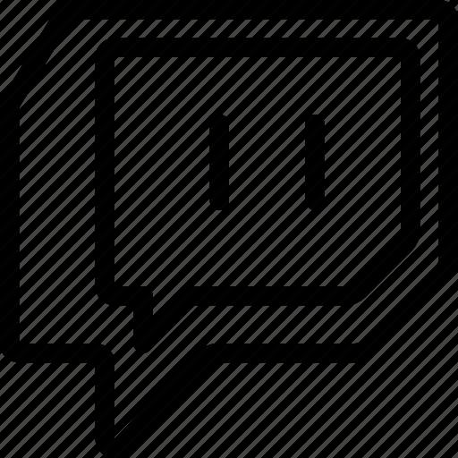 CRMla Twitch Blacck Adn White Logo