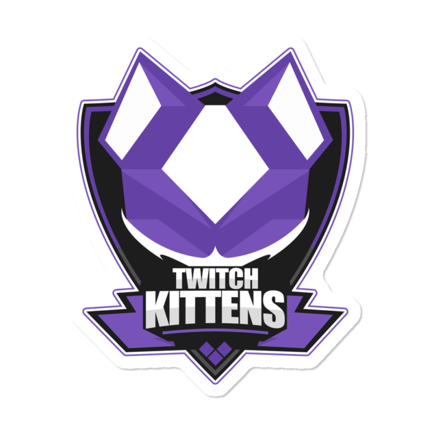 Twitch Kittens Logo Sticker By TwitchKittens Design By Humans