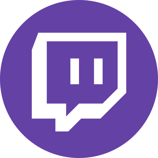 Circle gaming round icon twitch video icon