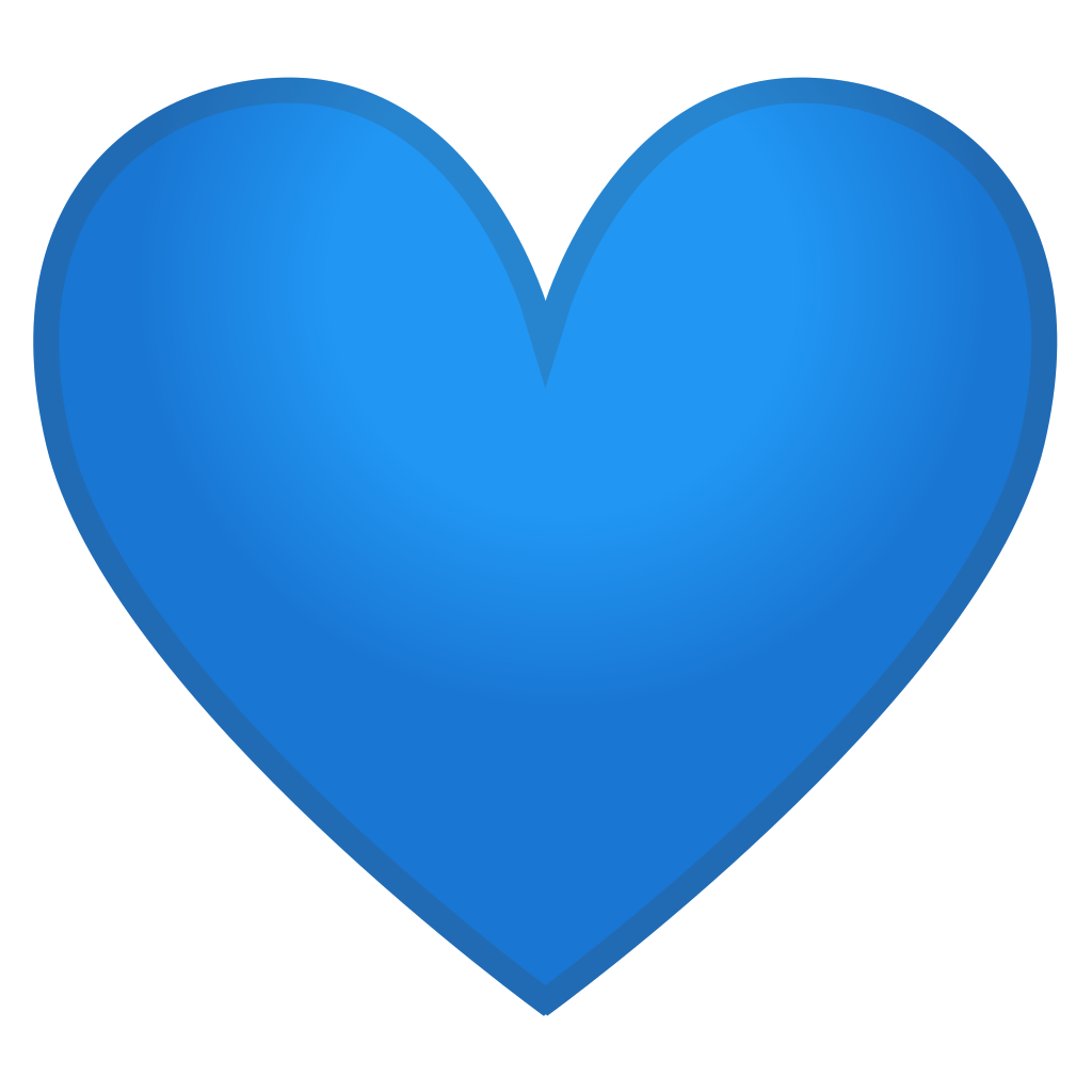 Blue heart Icon  Noto Emoji People Family  Love Iconset
