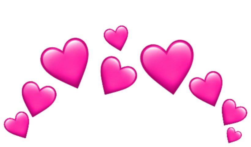 Pink Heart Emoji PNG Image  PNG Mart
