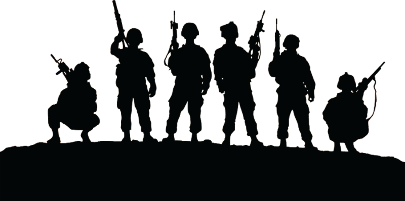 Soldier Silhouette United States Veteran Military  Night