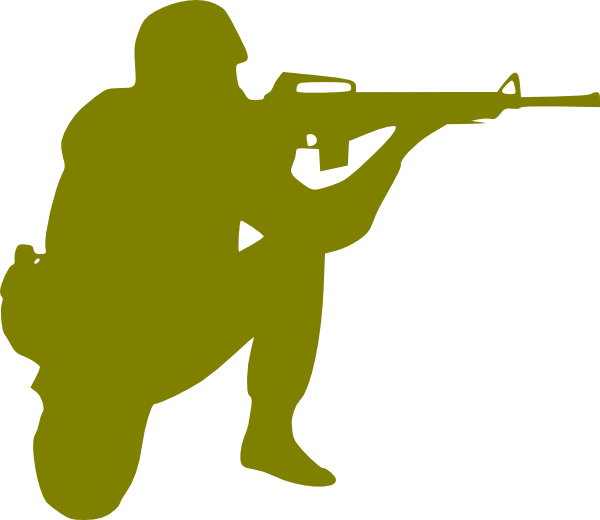 Army Soldier Silhouette Clipart  Clipart Suggest
