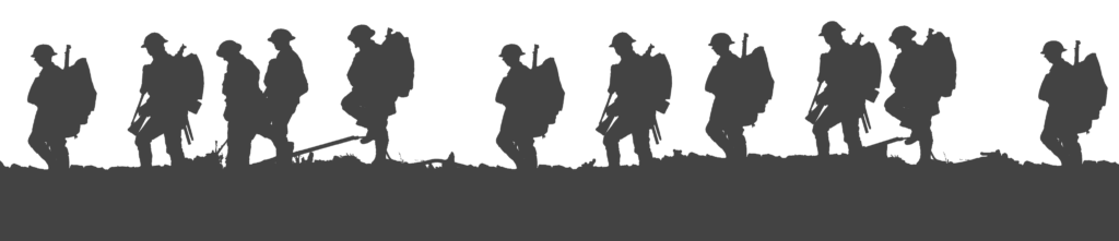 Lest we forget First World War Soldier Silhouette Military
