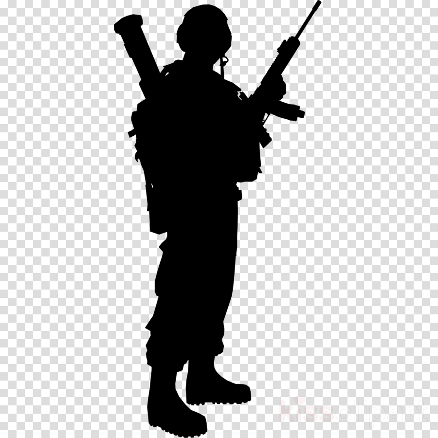Army clipart silhouette Army silhouette Transparent FREE