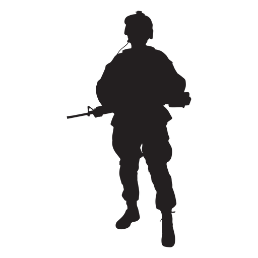 Special forces soldier silhouette  Transparent PNG  SVG