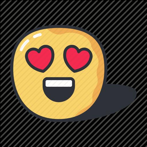 Emoji emoticon heart love valentine icon