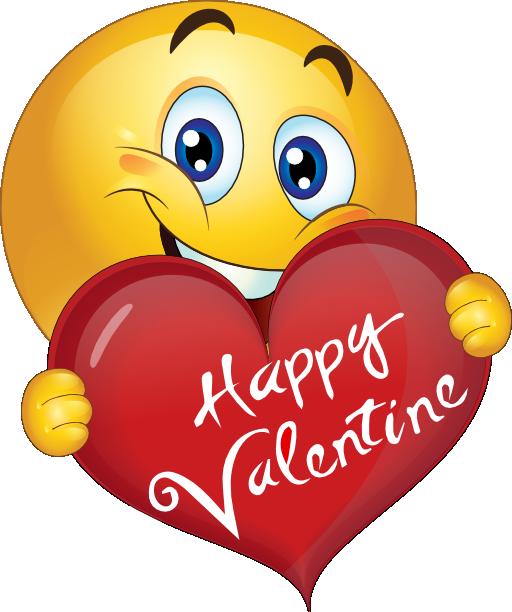 Happy Valentine Boy Smiley Emoticon Emoji Clipart
