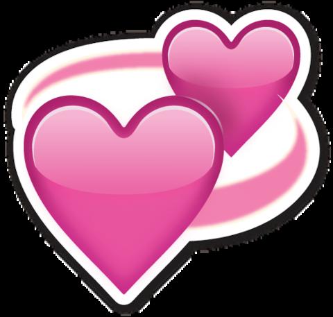 Revolving Hearts  Heart emoji Emoji stickers Emoji