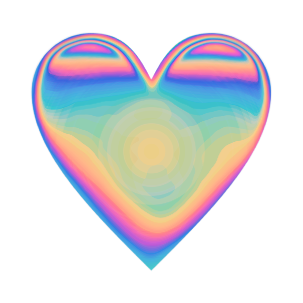 heart emoji heartemoji holo holographic valentine love