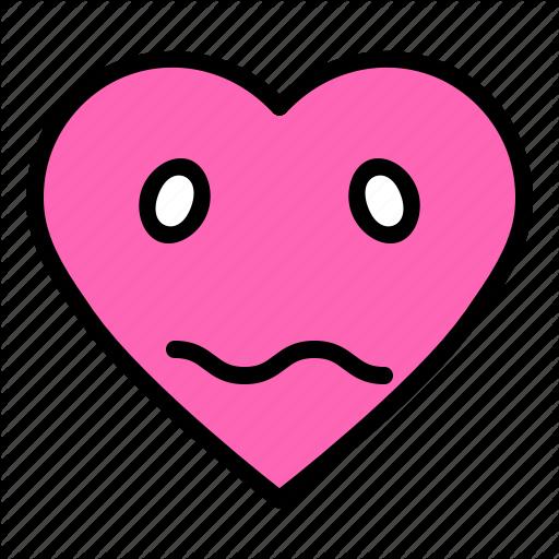 Bored emoji emoticon heart valentine icon