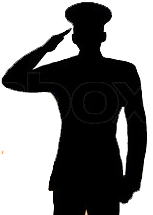 Silhouette Soldier Soluting Clipart  Clipart Suggest