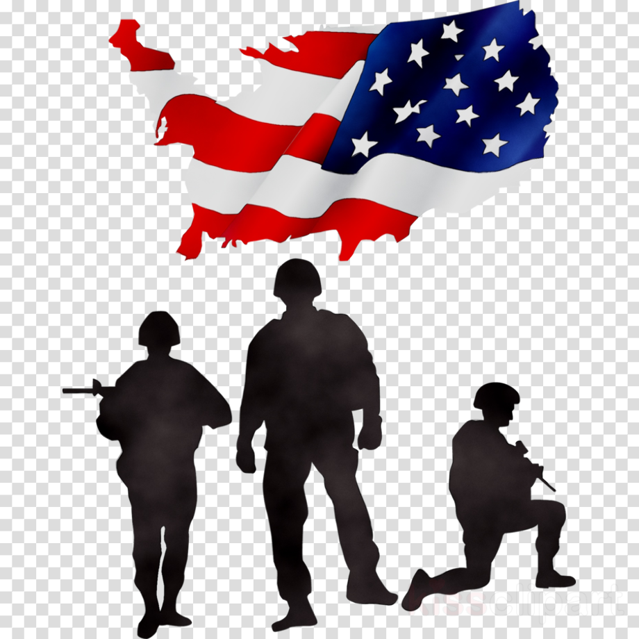 Download High Quality veterans day clipart silhouette ... - Veteran Soldier Silhouette
