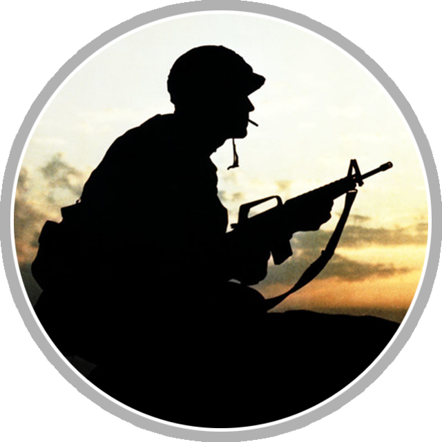 Soldier In Vietnam  Operation Cross Eagles 1968 Clipart