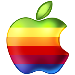 Apple Rainbow Icon  Operating Systems Iconset  Tatice