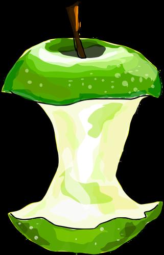 Vector image of eaten apple  Free SVG