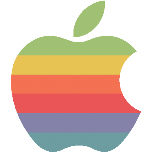 Rainbow apple logo Icon  Flat Retro Modern Iconset