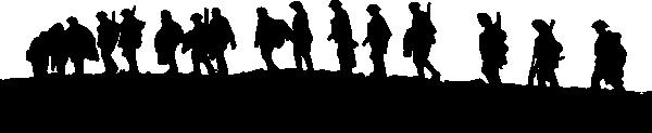 Soldiers Walking Clip Art at Clkercom  vector clip art